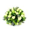 Duoplant rouwstuk - Rozen met viburnum als biedermeier (28)
